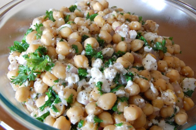 Feta Chickpea Salad