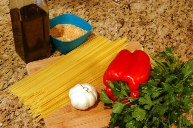 Garlic Breadcrumb Pasta Ingredients