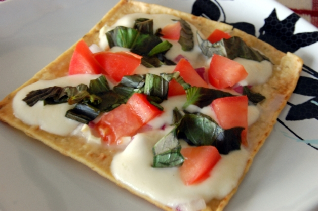 Stove Top Flat Bread Pizza Margherita