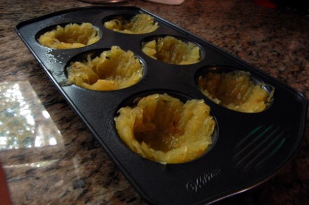 Spaghetti Squash Caprese Cups Muffin Tin