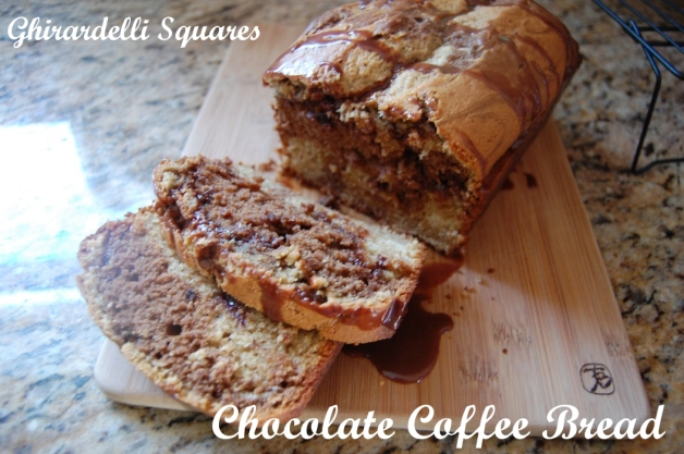 21 Ghirardelli Squares Chocolate Coffee Bread Sliced
