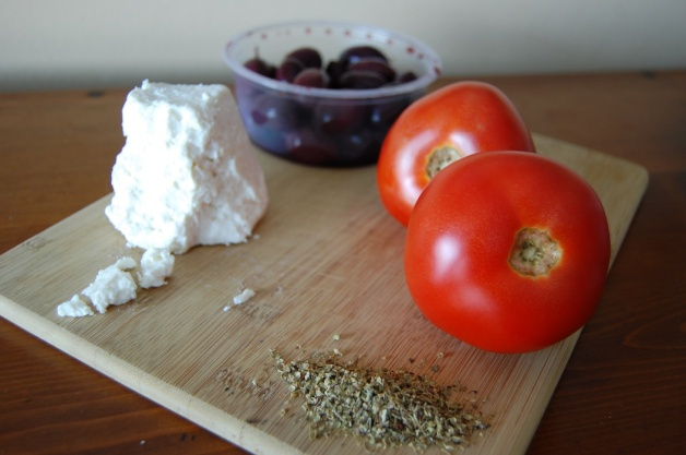 Feta and Kalamata Olive Baked Tomatoes Ingredients
